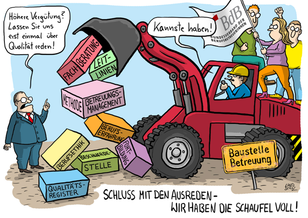 Baustelle Betreuung - Illustration